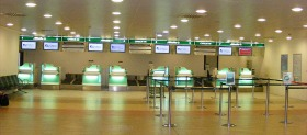 Check-in Alitalia all'aeroporto di Firenze