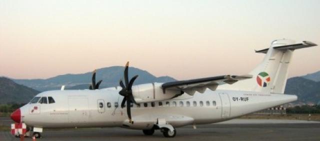 ATR 42 DAT Airlines sulla pista di Tortolì
