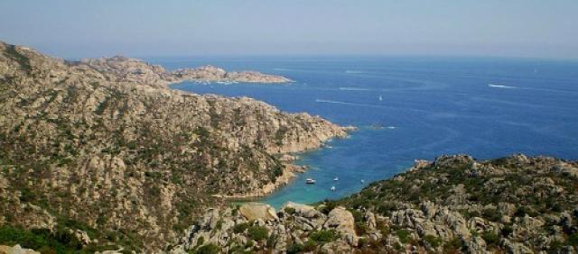 Panorama della costa di Caprera