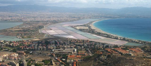 Veduta aerea di Cagliari