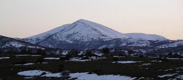 Fonni - Montegne innevate in inverno