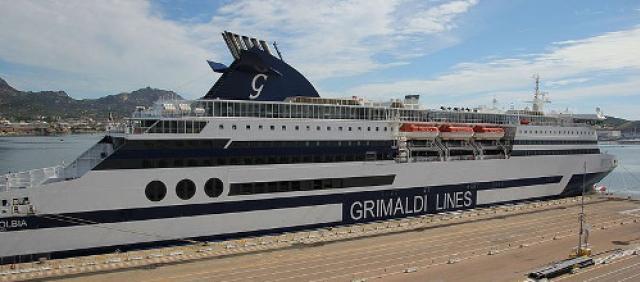 Grimaldi Lines al porto di Olbia