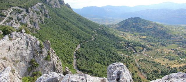 Tratto dell'Orientale sarda vista dall'alto