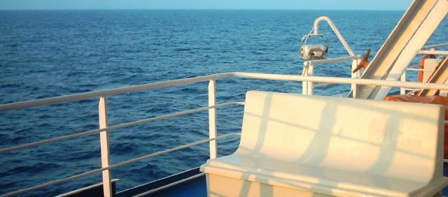 Vista dal Traghetto della Tirrenia